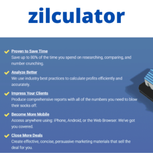 Zilculator : Online real estate analysis software and app || Real estate calculator ||