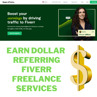 earn money by referring fiverr freelance services